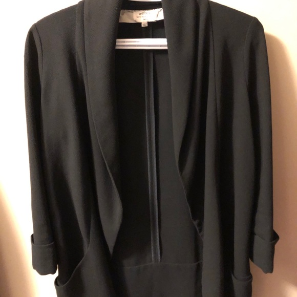 Wilfred chevalier blazer - size 2, black, EUC